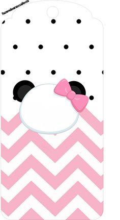 Tag Agradecimento Panda Rosa Menina Panda Party, Kung Fu Panda, Baby Shower, Panda Birthday, Cute Animal Photos, Party Kit, Kids Part, Toddler Girls, Godchild