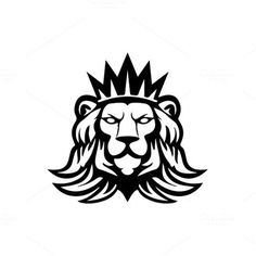 Lion logo Template by MustaART on @creativemarket: