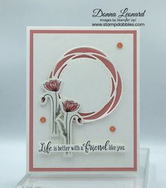 Stampin' Up! Homemade Birthday Cards, Homemade Cards, Poppy Cards, Wrapping Paper Crafts, Friendship Cards, Stamping Up Cards, Card Maker, Cool Cards, Flower Cards