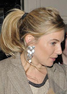Sienna Miller ponytail