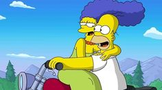 The Simpsons│ Los Simpson - - - - - - Homer And Marge, Homer Simpson, Best Tv Couples, Movie Couples, The Simpsons, Simpsons Funny, Two Person Halloween Costumes, Couple Costumes, Cartoon Wallpaper Hd