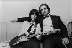 Patti Smith and John Belushi by Allan Tannenbaum