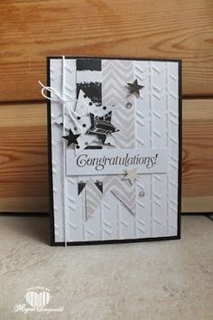 Magical Scrapworld: Congratulations, arrows embossing, cards, itty bitty accents punch, Stampin' Up!, stars framelits, the sky is the limit