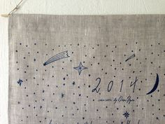 Items similar to 2014 Moon + Stars Wall Calendar / Tea Towel on Etsy Space Fashion, Star Wall, Enamel Jewelry, Fabric Paper, Wedding Paper, Stars And Moon, Tea Towels, Invitation Cards, Pattern Design