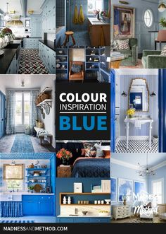 Don't get the blues looking at these spaces! From light, muted, to bright & dark, there's a lot of colour inspiration for blue interiors. Blue Rooms, Blue Bedroom, Blue Walls, Office Built Ins, Ceiling Trim, Blue Interiors, Blue Cabinets, Colour Inspiration, Living Room Paint