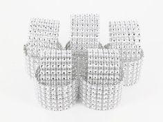100 Diamond Rhinestone Napkin Rings  6 Row wedding by GetSparkles, $49.00