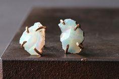 raw opal stud earrings   ::   Alexis Russell