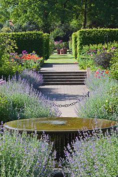View of the Country garden at Wisley Art Print by Carol Sheppard at King & McGaw Formal Gardens, Unique Gardens, Beautiful Gardens, Outdoor Gardens, Hanging Gardens, Landscape Architecture, Landscape Design, Garden Design, Garden Paths