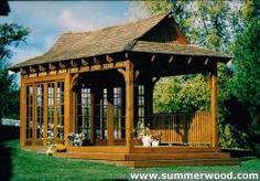 Bali Tea House Gazebo Kits, Backyard & Garden Japanese Teahouse