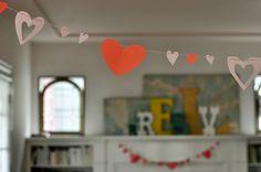 pretty heart garland at @Andrea Jenkins house