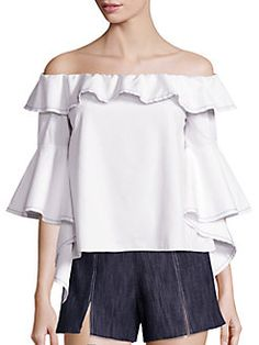 Alexis - Michelle Off Shoulder Ruffle Top