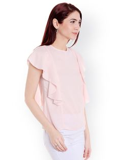 5b039356816f1e Buy Style Quotient Women Pink Solid Top - Tops for Women 2091792