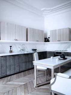 Parisian Interior by Gilles Et Boissier | Trendland: Design Blog & Trend Magazine; kitchen cabinets