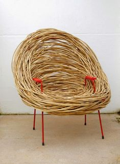 The Design Walker — The Nest Chair by Porky Hefer. Bamboo Furniture, Funky Furniture, Unique Furniture, Furniture Design, Ideas Cabaña, Poltrona Design, Nest Chair, South African Design, Chair Design