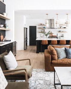 Dream Home Interior Design.Dream Home Interior Design Home Living Room, Living Room Furniture, Living Room Designs, Living Room Decor, Kitchen With Living Room, Furniture Decor, Modern Furniture, Orange Furniture, Furniture Dolly