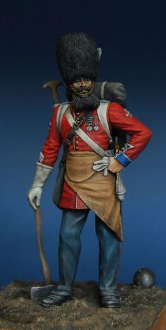 Chronos miniatures British pioneer of the Grenadier Guards regiment, 1856-57.