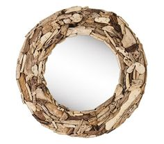 Loaves Round Drfitwood Mirror | Recyclart Shop