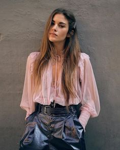 Twyla Top - Mauve Color - Pink - Romantic Sheer Blouse - Tied Neckline - Keyhole Front - Smocked Details - Ruffled Shoulder - Going Out - Girls Night Out - Valentine's Day Sheer Top Outfit, Sheer Blouse, Blouse Dress, Boho Fashion, Womens Fashion, Fashion Tips, Curvy Fashion, Fall Fashion, Classy Fashion