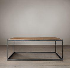 "$1295 Reclaimed Oak Parquet Coffee Table Item#61710032 NATL   40"" Table: 40"" sq., 15""H"