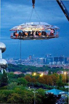 Hanging restaurant in Belgium is a 50 meters above ground