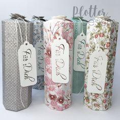 Plotterdatei Flaschenbox (2dl) von PlotterDesings Brother Scan And Cut, Cricut, Mugs, Coffee, Tableware, Design, 3d, Paper, Schnapps