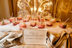 """""""Mambo Chuang"""" Signature Cocktail  Photography: Karlisch Studio Read More: http://www.insideweddings.com/weddings/classic-ceremony-at-smu-chapel-ballroom-reception-in-dallas/731/"""