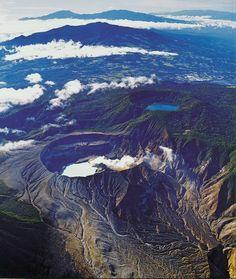 The Poas Volcano Costa Rica Volcano Wallpaper Honduras Active Volcano Crater