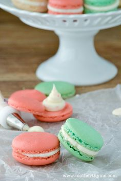 Candy Cane Macaroons.  I love French macaroons and will try this recipe.  Last recipe wasn't what I wanted.