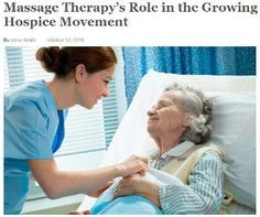 Massage Therapy's Role in the Growing Hospice Movement link.