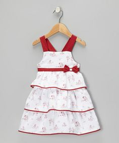Take a look at this White & Red Tiered Bow Dress - Infant & Toddler by P'tite Môm on #zulily today! $21.99