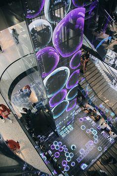 Interactive Installation, Interactive Art, Mall Design, Store Design, Digital Retail, Nightclub Design, Nike Design, Exhibition Display, Urban Architecture