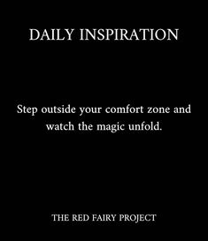 """RED FAIRY PROJECT by Geneviève on Instagram: """"I was having a discussion yesterday about how important it is to step outside our comfort zone to get the most out of our life. To truly…"""" Comfort Zone, Daily Inspiration, Our Life, The Outsiders, Stress, Fairy, Red, Instagram, Psychological Stress"""