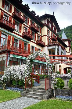 Giessbach Hotel, Bernese Oberland, Switzerland. Our tips for 25 fun things to do in Switzerland: http://www.europealacarte.co.uk/blog/2012/02/13/what-to-do-in-switzerland/