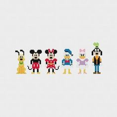 Disney Mickey and Friends Cross Stitch Pattern von pixelsinstitches