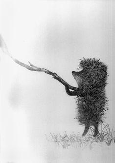 Hedgehog in the fog by  Yuri Norstein.   http://www.youtube.com/watch?v=oW0jvJC2rvM=player_embedded