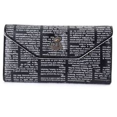 Lovely Bear Newspaper Pattern Wallet ($9.97) ❤ liked on Polyvore featuring bags, wallets, newchic, credit card holder wallet, pattern wallet, print wallets, bear bag and beige wallet