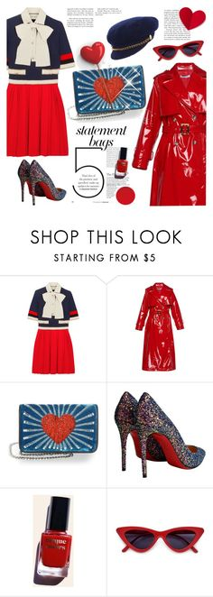 """""""STATEMENT BAG"""" by tiziana-melera ❤ liked on Polyvore featuring Gucci, Les Petits Joueurs, Christian Louboutin, Cirque Colors, Scala, armcandy and statementbags"""