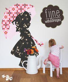 Muurdecoratie kinderkamer meisje