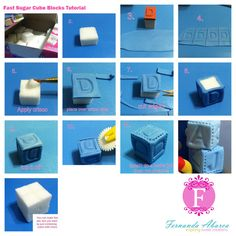 Cake Decorating Letter Cubes : Fondant, Gumpaste and Sugar Art Tutorials on Pinterest ...