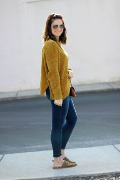 With Style & Grace   Gold Chenille Sweater