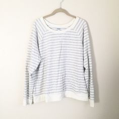 Striped Lightweight Crewneck cute sweater! worn only twice. very light faint small stain (yellow) on front middle of top. wouldn't show up in photo. about the size of a pea. not very noticeable and may come out with stain remover. accepting all offers. NO TRADES Old Navy Sweaters