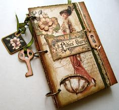 Hi there!   I wanted to share my most recent project, a worn and weathered journal (it can also be used as a mini album) that I made for Th...