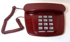 Lennox Sound Designer Desk Telephone PH-306 Red Maroon Phone Vintag Large Button #Lennox