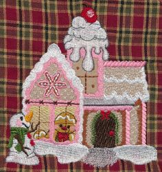 Threadsketches' set Sugar and Spice - Christmas embroidery designs, fancy gingerbread house