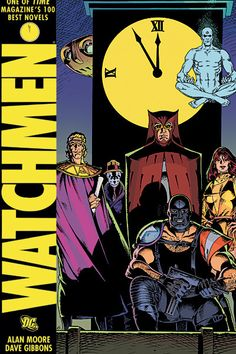 """Watchmen: The Graphic Novel by Alan Moore & Dave Gibbons. A twelve-issue comic series combined into a single graphic novel(this cover was a limited edition) """"Watchmen"""" was the first and only comic book or graphic novel to win the Pulitzer Prize. Comic Book Covers, Comic Books Art, Comic Art, Book Art, Dc Comics, Batman Comics, Watchmen Comic Book, Doctor Manhattan, Landscape Photography"""