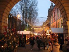 The Nostalgic Christmas Market at Opernpalais on the famous boulevard Unter den Linden in Berlin