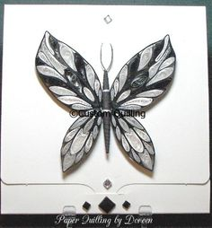 Custom Quilling DT Doreen Coreman Quilled Butterfly
