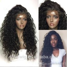 360 lace frontal wig, 250%Density Brazilian Virgin deep wave Curly Lace Front Wig&Human Hair Lace Front Wig For Black Women