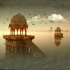 "dk Pin board trials~*~ ""The Golden City"", is a town in the Indian state of Rajasthan Temple India, Indian Temple, Places To Travel, Places To Visit, Amazing India, Indian Architecture, Jaisalmer, Mysterious Places, India Travel"