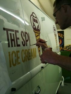 Amazing work by Prosign on the VW Splitscreen ice cream van Ice Cream Van, Vw, Amazing